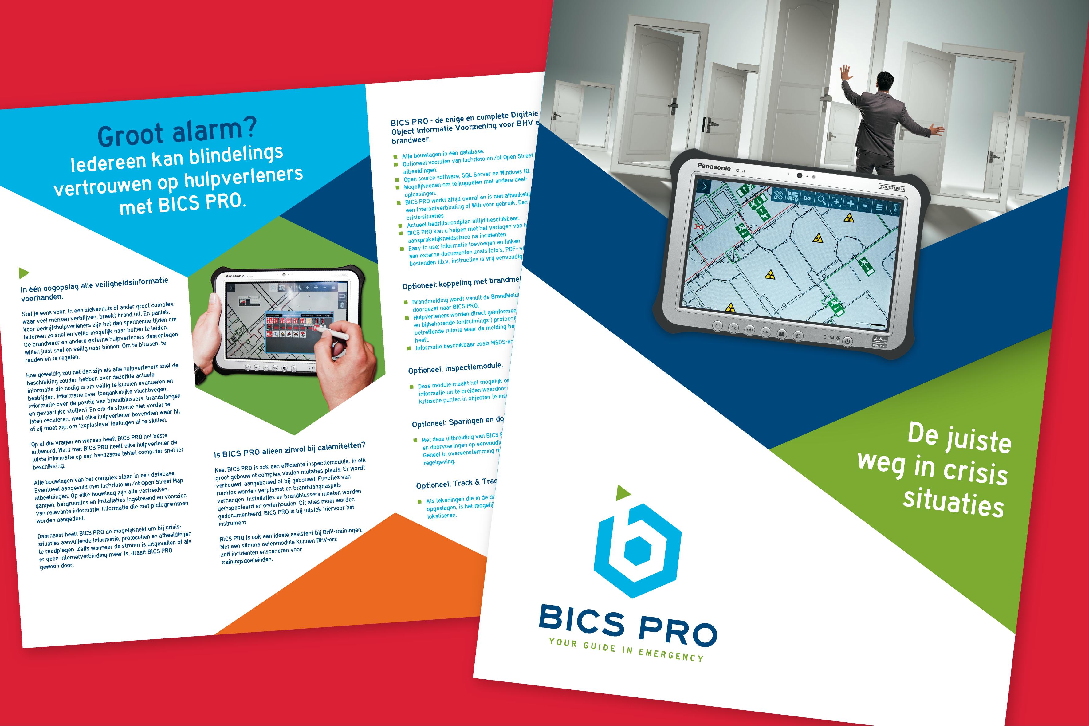 BICS PRO folder object informatie voorziening t.b.v. BHV-ers