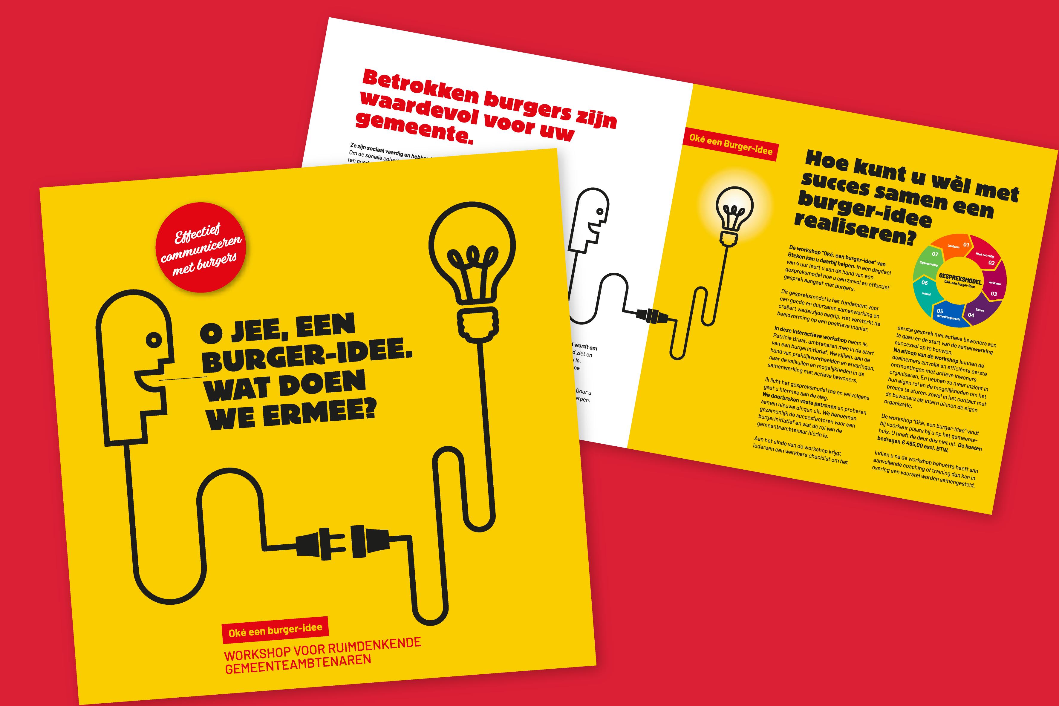 Bteken folder workshop burger-idee